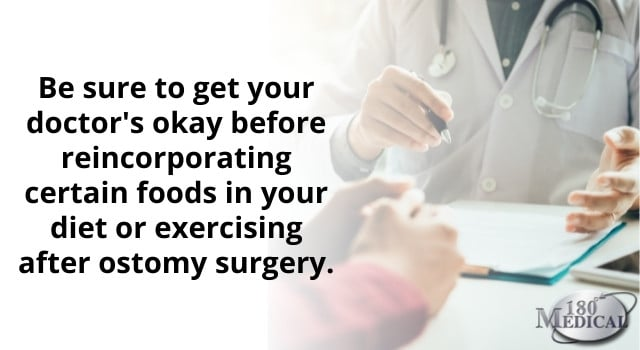get your doctor's okay before exercising after ostomy surgery