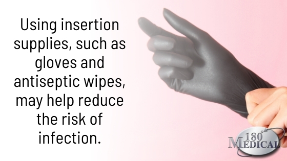 using catheter insertion supplies like gloves may help reduce the risk of infection