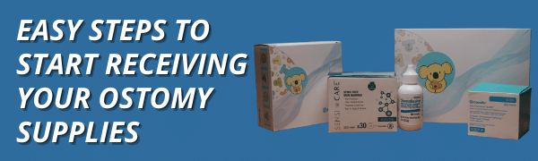 easy steps to start receiving your ostomy supplies blog header title graphic