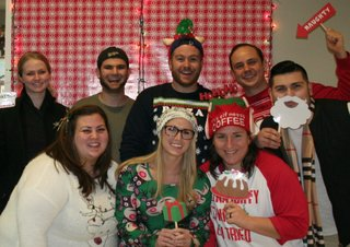 customer specialists holiday photo booth