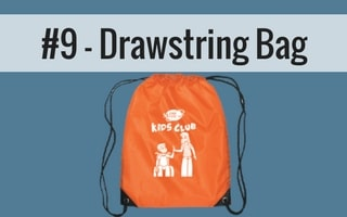 180 medical kids club drawstring bag to carry catheters
