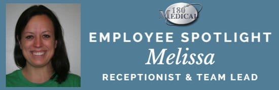 melissa receptionist 180 medical