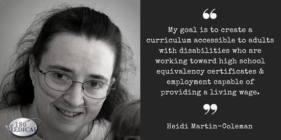 180 medical scholarship recipient heidi 2017 quote