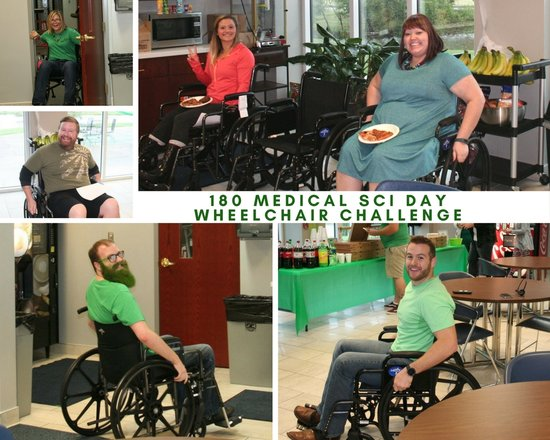 Pictures from the Wheelchair Challenge at 180 Medical