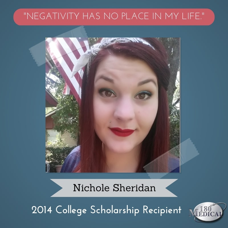nichole sheridan 2014 180 medical scholarship winner