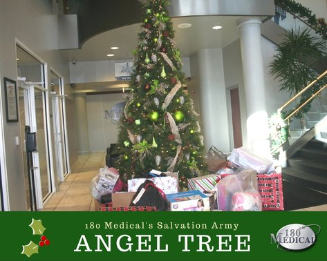 2016 salvation army angel tree at 180 medical