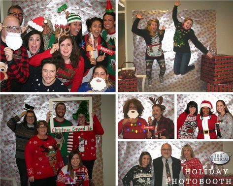 2016 christmas holiday photo booth at 180 medical