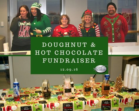 2016 donut and hot chocolate fundraiser at 180 medical