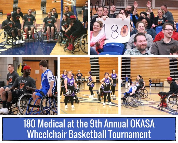 180 Medical at the 2017 OKASA Wheelchair Basketball Tournament