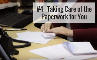 we take care of paperwork