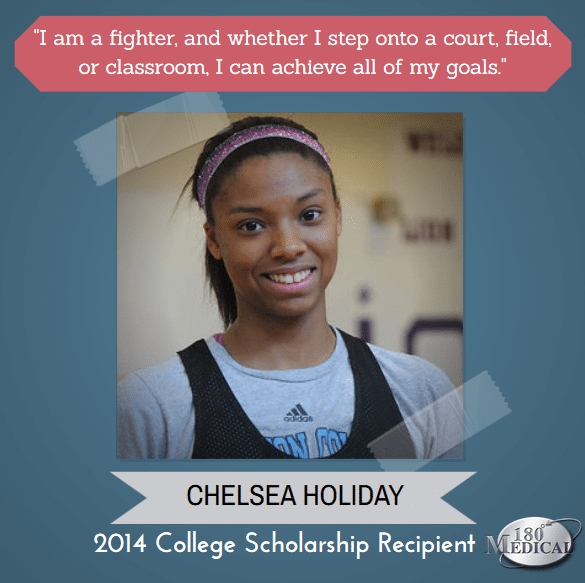 Chelsea Holiday 2014 180 Medical college scholarship winner