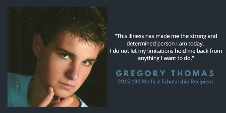 greg thomas scholarship quote