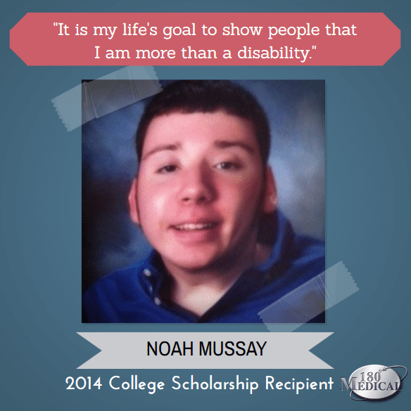 180 medical scholarship winner 2014 noah mussay