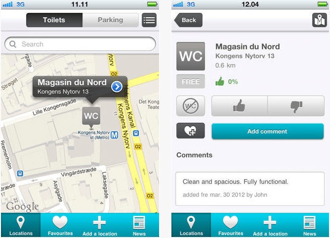 wheelmate app screenshot