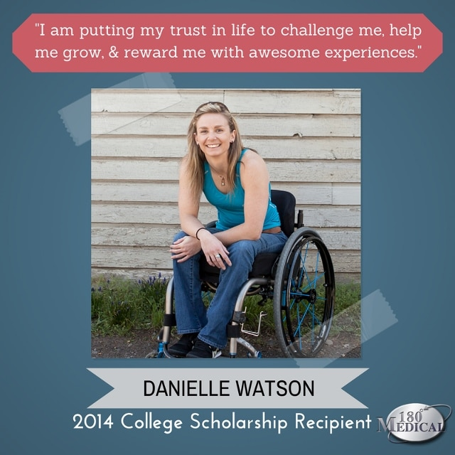 danielle watson 180 medical 2014 scholarship winner