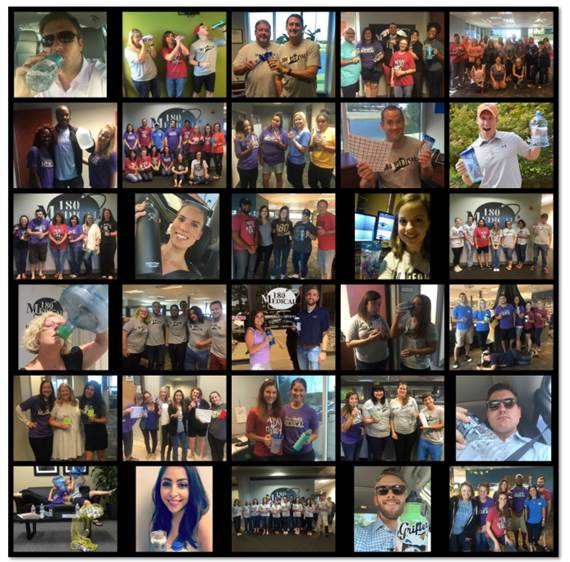 180 medical employees water challenge collage