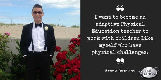 frank damiani spina bifida career goals quote