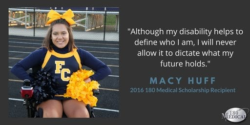 macy 180 medical college scholarship winner quote