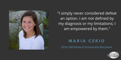 maria c 180 medical scholarship recipient