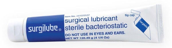 surgilube bacteriostatic catheter lubricating jelly