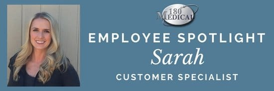 sarah 180 medical customer service employee