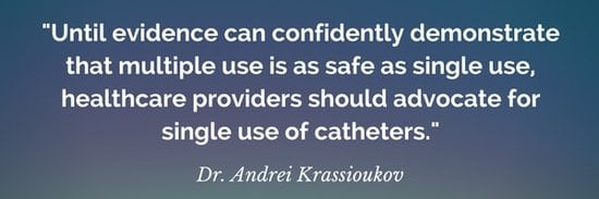 reusing catheters vs single use quote