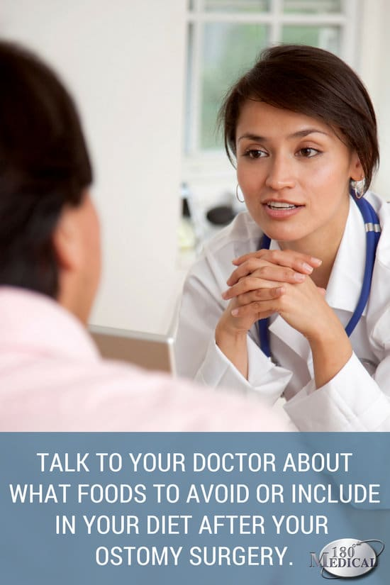 talk to your doctor about diet after ostomy