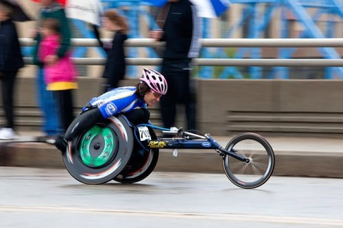 tricia downing paraplegic hand cycling