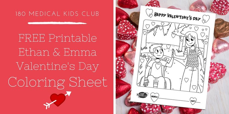 Free Ethan and Emma Valentine's Day Printable Coloring Sheet