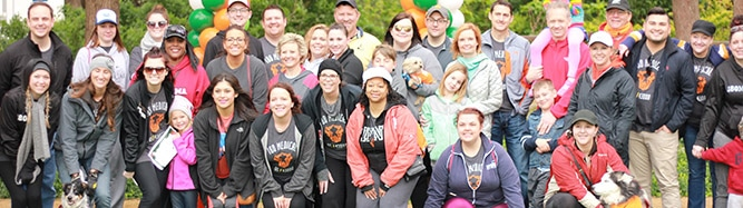 180 Medical employees at a MS Walk