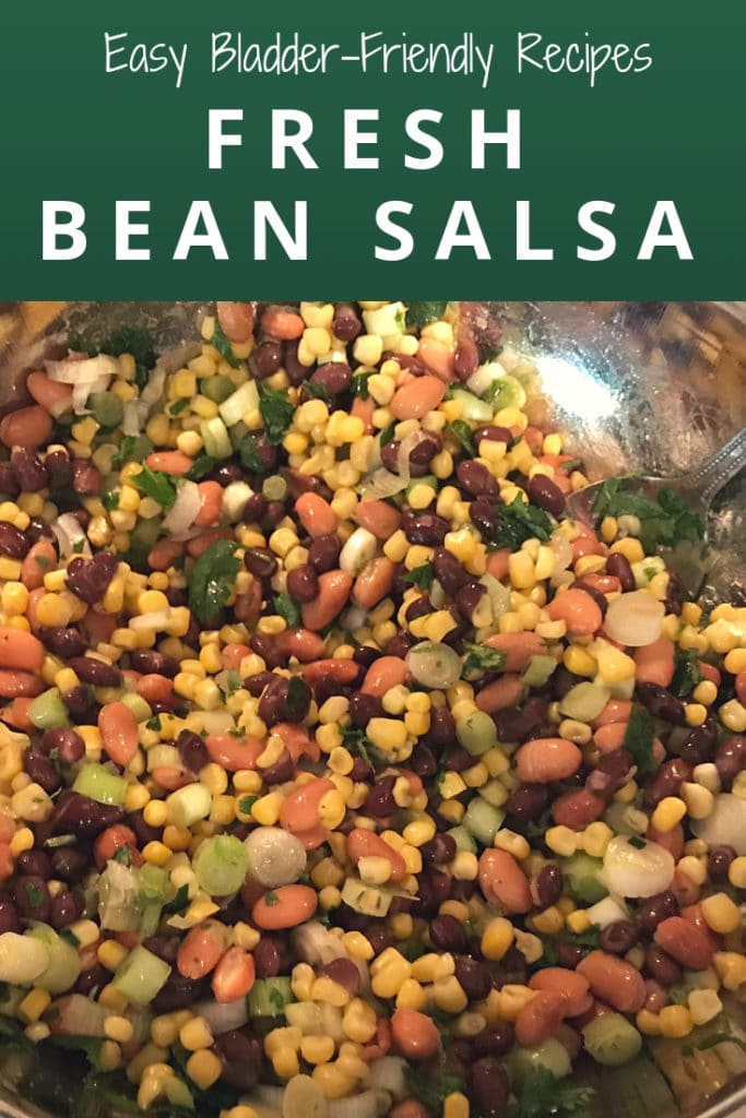bladder friendly bean salsa