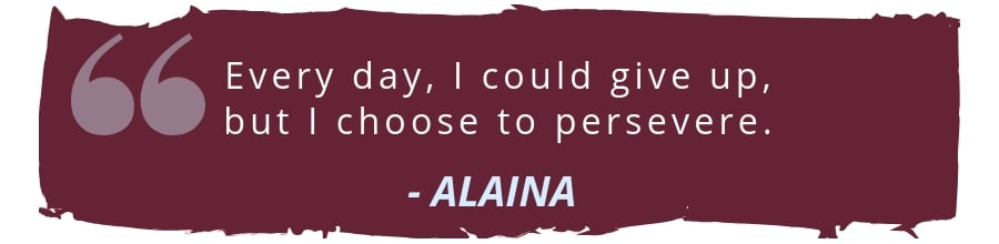 alaina spina cord injury scholarship recipient quote