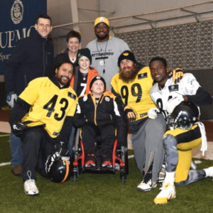max and family with steelers