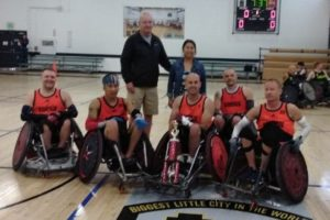 james dubose and wheelchair rugby team