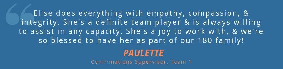 paulette quote about confirmations employee elise