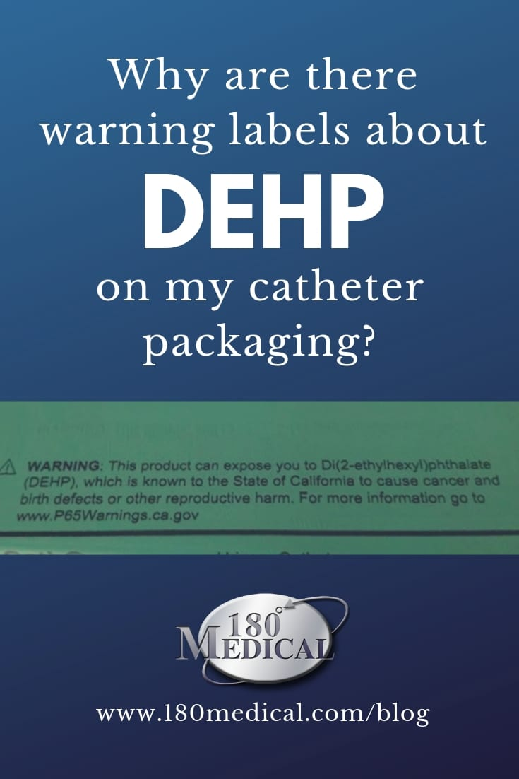 dehp warning label on catheter packaging