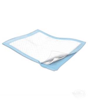simplicity disposable fluff underpad with blue liner