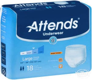 Attends Extra Absorbency Protective Underwear package