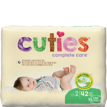 Cuties Complete Care Baby Diapers -size 2 package
