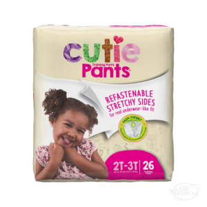 Cutie Pants Training Pants for Girls with refastenable strechy sides CR7008 2T