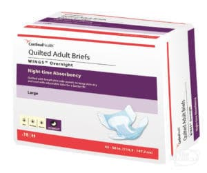 Cardinal Health Wings Overnight Quilted Adult Incontinence Briefs 63074