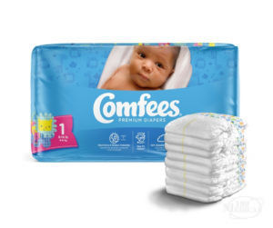 Comfees Premium Baby Diapers for Boys and Girls CMF1 Size 1