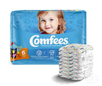 Comfees Premium Baby Diapers for Boys and Girls CMF6 Size 6