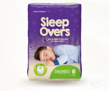 Cuties Sleep Overs Youth Day or Night Training Pants - Small Medium size package