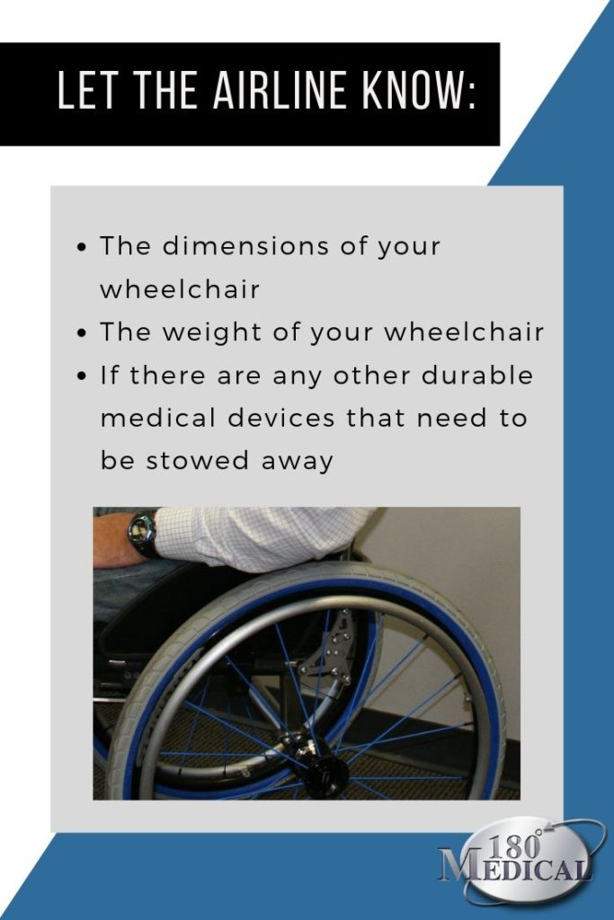 let the airline know if youre traveling with wheelchair