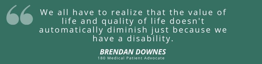 brendan downes quote about disability