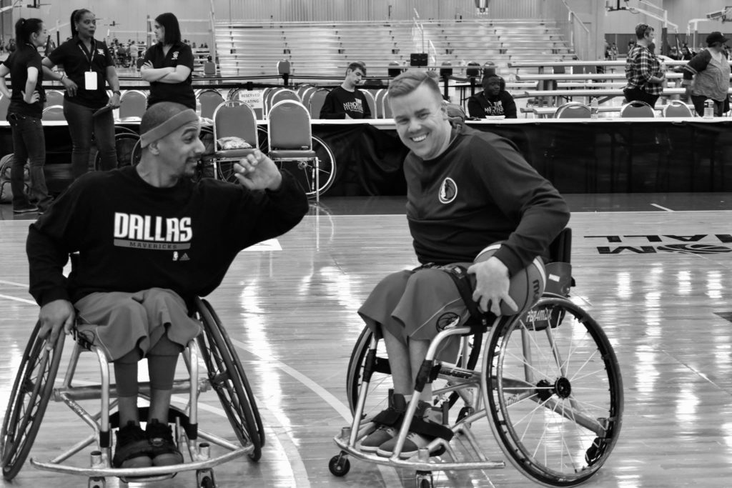 brendan wheelchair basketball Mavs