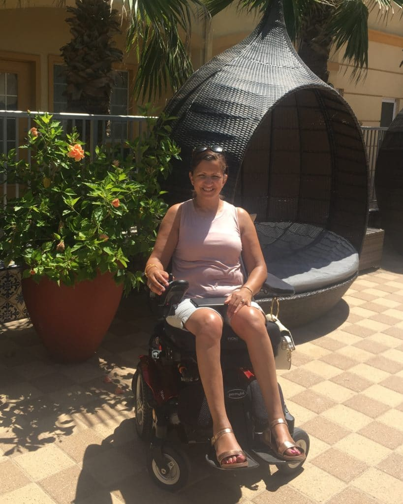 meena on wheelchair accessible vacation