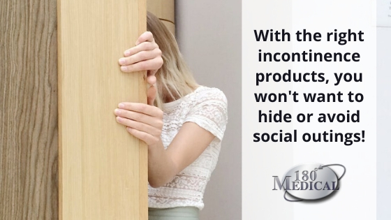 incontinence products and social life