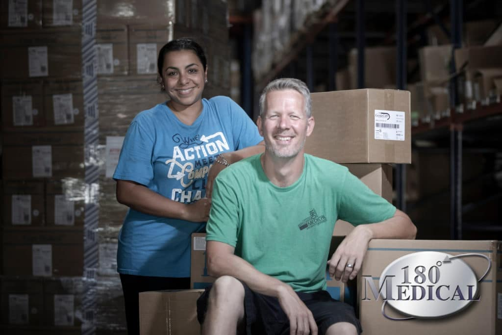 180 Medical shipping specialists Maria and Travis